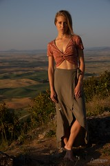 Johanna (austinspace) Tags: woman portrait steptoe butte spokane washington palouse sunset dusk magichour blond blonde overalls skirt