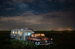 The Last Adventure (lefturn99) Tags: hudson airstream abandonned night milky way stars astro astrophotography field salvage vintage antique hydro oklahoma