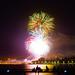14 Juillet, feu d'artifice de Sainte-Maxime depuis la pointe des Sardinaux
