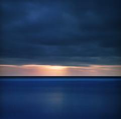 Ocean horizon (Zeb Andrews) Tags: hasselblad500c fuji160c oregoncoast seascape longexposure ndfilter oregon pacificnorthwest pacificocean film mediumformat coast sunset
