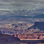 The Distant La Sal Mountains While Taking in View Across Canyonlands National Park thumbnail