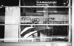 Ghostpeople (Zesk MF) Tags: bw black white street people mono zesk scheibe mirror fenster window self spiegelung reflection mirroring silö tag graffiti