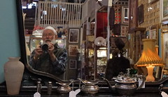 checking the teapot (spelio) Tags: antique shopping rare wares stuff historic old collectibles collectables sale price goods june 2018 bluemountains nsw australia sonya6000 a6000 me selfie