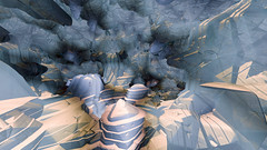 Lost machinery's hall in the grand canyon of aliens (msdte) Tags: 3d 3dart abstract cgart fractals fragmentarium