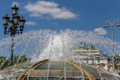 World Clock Fountain in Moscow