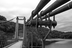 Autre vue du pont suspendu de Saint Marien, 2018. (steflgs) Tags: bnw noiretblancfrance pont bridge pontsuspendu creuse limousin ouvrage noiretblanc france