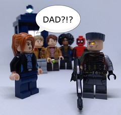 She's adopted (Barratosh#2) Tags: doctor who tardis 11 matt smith rory williams aurther darvil amy pond karen gillan sonic screwdriver k9 dalek cybermen deadpool 2 ryan reynolds domino zazie beetz cable josh brolin xmen mutants marvel lego minifigures