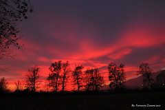 """La terra del fuoco (Ferruccio Zanone) Tags: """"la terra dei fuochi"""" tramonto vespro cielo luce rosso magellano del fuoco"""" perù argentina"""
