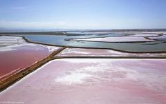 Salt evaporation ponds, Redwood City, California. (Michael Layefsky) Tags: saltponds aerial photograph redwoodcity california evaporation