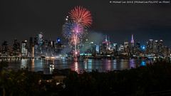 NYC Pride Fireworks (20180624-DSC09749) (Michael.Lee.Pics.NYC) Tags: newyork weehawken newjersey hudsonriver midtownmanhattan nycpride fireworks night longexposure reflection architecture cityscape esb empirestatebuilding timessquare sony a7rm2 fe24105mmf4g