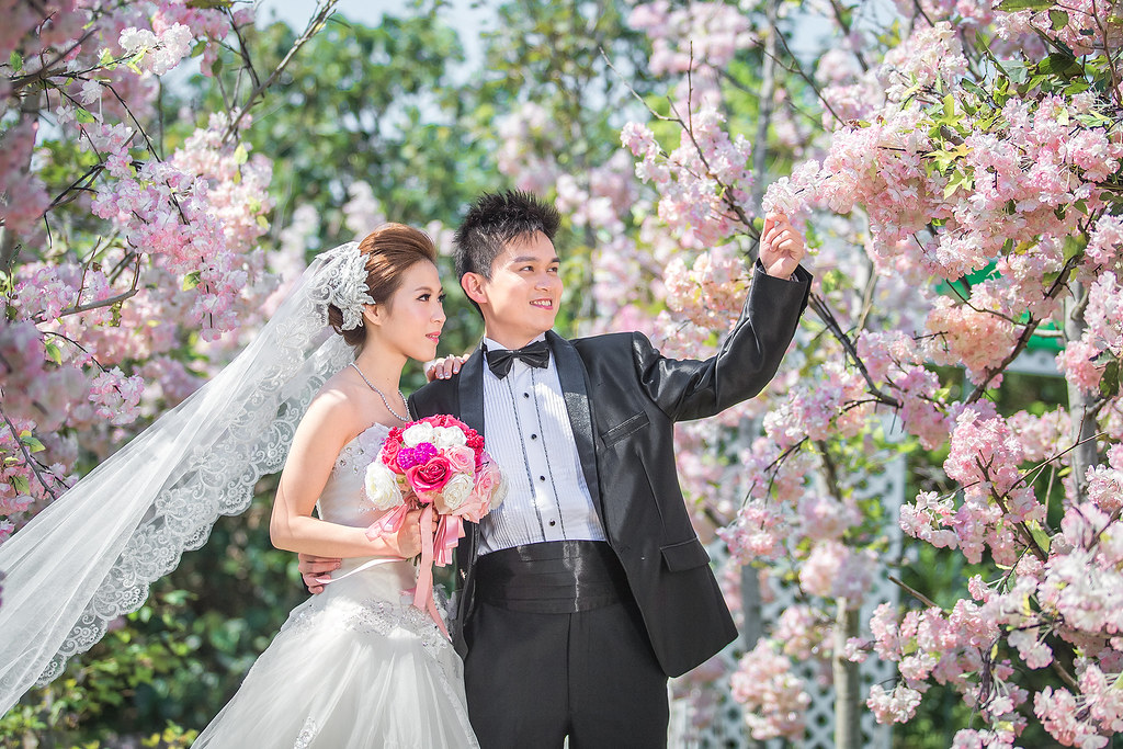 020婚紗攝影-婚紗照-淡水莊園-櫻花