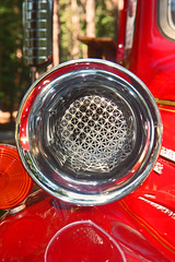 Antique red engine siren (Alisa JO) Tags: antiquecar abstract southlaketahoe antiqueengine