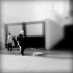 One day baby ... you'll be old ... (LUMEN SCRIPT) Tags: square shadow light creativefocus candid softfocus blackandwhite people baby emotion ageing oldness streetphotography monochrome conceptualphotography conceptphotos