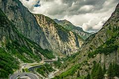 Winding road in gorge coming down from Andermatt (gupta_amitabha) Tags: andermatt uri switzerland ch