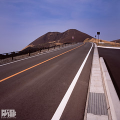 the open road to mount Aso-000016 (pixelwhip) Tags: mamiya 6 film mount aso mt japan road open empty emptiness void 6x6 square spring 2018 rent car mountain volcanic country remote away