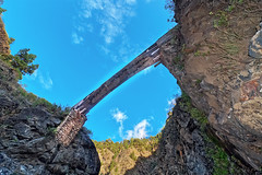 Bridge in La Caldera (Vladi Stoimenov) Tags: lapalma lacaldera bridge sky spain rocks stones tokina nikon nikkor d90