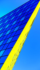 Yellow Streak (Book'em) Tags: abstract architecture geometry geometric colour color buildings lines diagonals sony rx100m3 prague