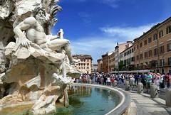 Le Fontane di Roma ... (Augusta Onida) Tags: fontanaquattrofiumi bernini roma italia italy piazza sqaure fontana fountain leicam collage