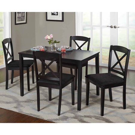 Free Shipping. Buy Mason 5 Piece Cross Back Dining Set, Multiple Colors at Walma…