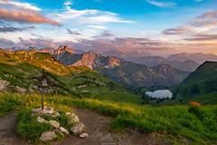Sonneuntergang in den Allgäuer Alpen (F!o) Tags: