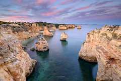 Marinha Invitation (CResende) Tags: algrave portugal marinha beach cliffs iconic landscape seascape sunset leefilters nikon d810 1635 cresende visitportugal ocean colors path clouds warm invitation