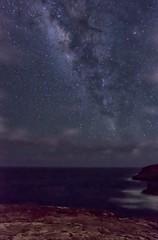 Re-Edited Another Milky Way (Fletch in HI) Tags: nikon d5600 tamron 16300 hoyaredintensifierfilter milkyway sky stars astrophotography water ocean oahu hawaii clouds