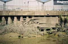 River structures (knautia) Tags: riveravon bristolferry bristol england uk july 2018 film ishootfilm olympus xa2 olympusxa2 kodak kodacolor 200iso nxa2roll37 river avon ferry stphilipsgreenway stphilips myfavoruitefromtheroll