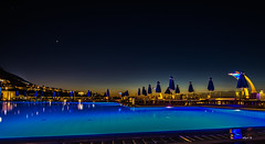 pool (Heinertowner) Tags: chersonisos kreta crete swimming pool bucht mittelmeer griechenland greece blaue stunde blue hour sunset sonnenuntergang meer langzeitbelichtung long exposure nikon d3300