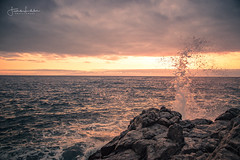 ReAwakening (Fredrik Lindedal) Tags: ocean rocks rock water splash sunset raw nikon sky skyline sunlight seascape