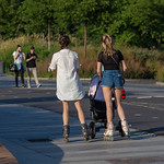 Young Russian women with rollerblades thumbnail