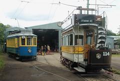 Beamish Museum Tram: Newcastle Corporation 114 + Oporto 196 (emdjt42) Tags: beamishopenairmuseum 114 196 beamish tram