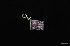 Gem-set Union flag (Can Pac Swire) Tags: old antique english british jewels gemset jewelry jewellery gold 9k 375 ruby sapphire diamond pendant chain flag union jack 2018aimg1087