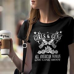 Girls & Guns. All American Woman. Women's T-Shirt. (Sons of Liberty Tees) Tags: 2a apparel clothing country countrygirl countrylife cute fashion fashionista girlsandguns girlswhoshoot girlswithguns girly glockgirl gunchick gungirl instafashion instagood instastyle ootd patrioticwomen pew rangegirl secondamendment sonsoflibertytees southern stylish tshirts womensfashion womenwhoshoot