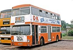 Stevensons, Uttoxeter: 52 (THM586M) at the operator's garage (Mega Anorak) Tags: bus daimler fleetline crl6 mcw dms stevensonsuttoxeter londontransport uttoxeter ckofcardiff