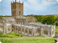 St Davids Cathedral (Lady Ann 2010) Tags: ©ladyann2018 canonixus500hs canon stdavidscathedral stdavids pembrokeshire westerlypoint atlantic peninsula patronsaint 6thcentury monastery architecturalphotography thepebbles foundedcad589 wales uk