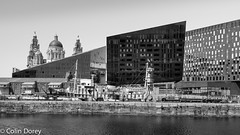 Liverpool -16.jpg (Colin Dorey) Tags: bw monochrome blackandwhite blackwhite liverpool merseyside docks architecture structure albertdock canninghalftidedock canning halftide port harbour building gravingdock graving june 2018 summer sunshine skyline pierhead cunardbuilding liverbuilding water reflections dock dazzleship peterblake sirpeterblake sky ship boat city