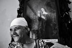A blessed smile (fcribari) Tags: 2018 brasil fujifilm pernambuco recife x100t blackandwhite blancoynegro church face faith fotografiaderua monochrome pretoebranco religion saint street streetphoto streetphotography
