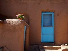Taos Pueblo (bingley0522) Tags: olympuspenf panasoniclumix20mmf17 taospueblo taos newmexico bluedoor pueblo ordinarythings commonplacethings