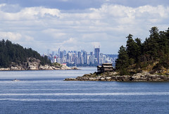 Vancouver skyline with Passage Island (right) and Lighthouse Park (left) in foreground (jer1961) Tags: passageisland island tinyisland vancouver vancouverskyline skyline westvancouver lighthouse lighthousepark pointatkinson pointatkinsonlighthouse