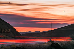 red skies at night (pbo31) Tags: california bayarea nikon d810 color june 2018 boury pbo31 summer lightstream motion roadway altamontpass livermore sunset 580 eastbay alamedacounty highway red sky orange fixx