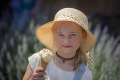 Ella's 9th birthday ! (Erroba) Tags: canon 5d markiii child belgium portrait girl icecream summer bokeh flowers lavender