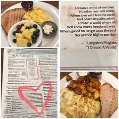 Love this poem at the menu of Busboys and Poets, a favorite restaurant in Shirlington. Brunch then the Sicario 2 movie at the nearby AMC before we fetch the kids from their summer camp! #TGIF #happy3daybirthdayweekend #tnxhb (Travel Galleries) Tags: idreamaworld hughes langston travel usa virginia va shirlington menu food dine eat poem eggs scrambled omelet brekkie breakfast brunch restaurant poets busboys tgif tnxhb