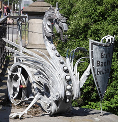 Bridge Guard (Schwanzus_Longus) Tags: hamburg german germany bridge guard metal art dragon wyvern