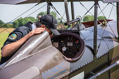 Final Checks (StevePilbrow) Tags: great war display team ww1 world one 1 dogfight vintage aircraft flying plane classic sports car show flywheel festival raf bicester heritage centre june 2018 nikon d7200 nikkor