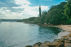 Beautiful Bay (Hackneyed Idea) Tags: beach trees bush water rocks pools clouds sky new south wales australia sydney hermitage bay hermit beatiful day shock