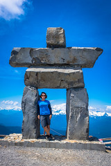 And now Amanda and the Inukshuk