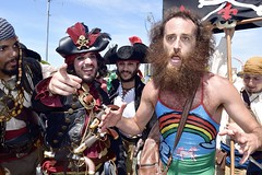Shiver Me Timbers (-»james•stave«-) Tags: pirates coneyisland mermaidparade 2018 humor fun guys men costumes hats brooklyn newyork nyc rainbow unicorn mathewsilver nikon d5300