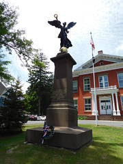 Winged Victory Monument (jimmywayne) Tags: berkshirecounty massachusetts greatbarrington historic townhall wingedvictory civilwar monument