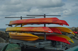 Kayaks in Mölle