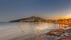 Sunset at Santa Eulalia Beach, Ibiza (Frank Lammel) Tags: sunset sonnenuntergang balearen ibiza spain beach strand golden hour goldenhour sea seaside mittelmeer balearicisland eivissa